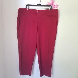 Dalia Collection pants for women red stretch